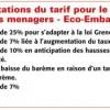 Les augmentations de tarifs pour le recyclage des emballages ménagers - Eco-Emballages